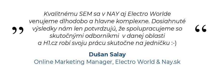 Dušan Salay, Online Marketing Manager, Electro World